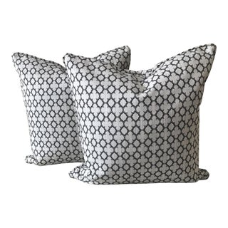Geometric Print Pillows - A Pair