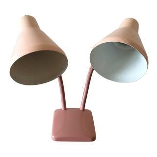 Vintage Pink Double Gooseneck Lamp