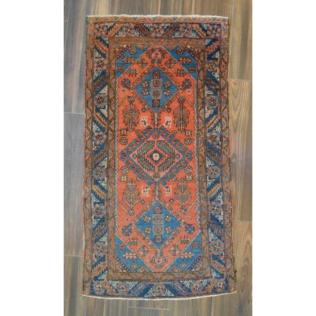 """Antique Persian Heriz Rug - 3' x 5'7"""" - Image 2 of 11"""
