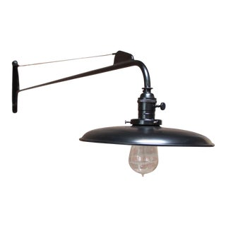 Modern Swing Arm Jib Sconce after Jean Prouvé