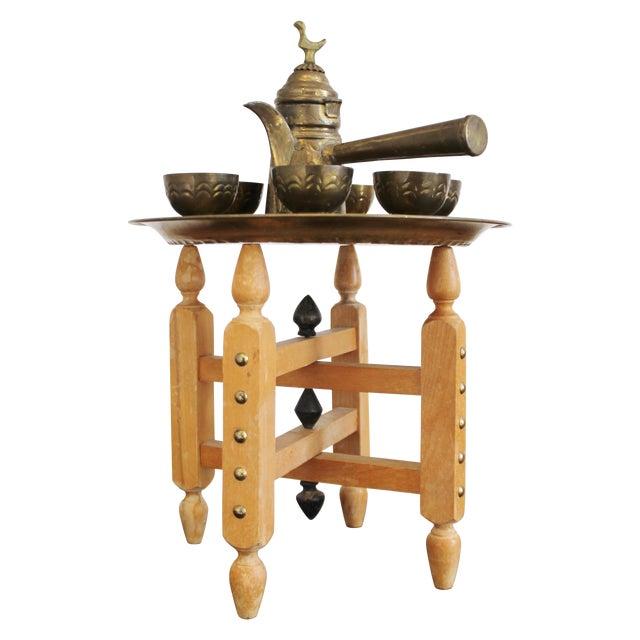 Image of Vintage Brass Turkish Coffee Set