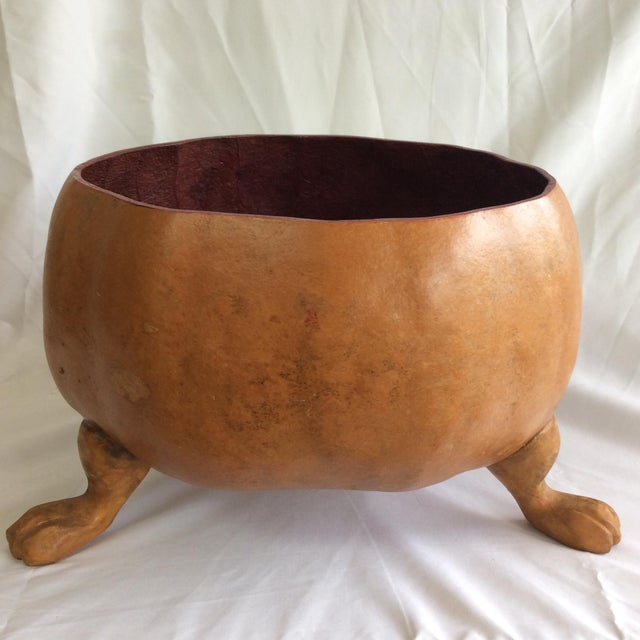 Footed Gourd Bowl - Image 2 of 4