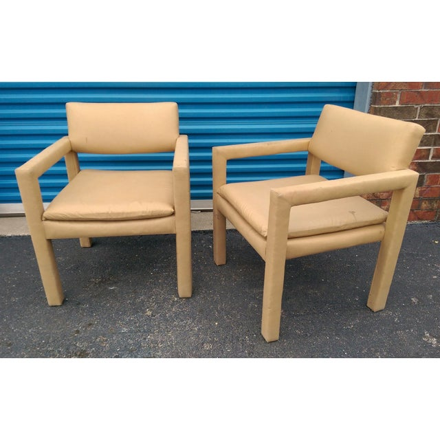 Milo Baughman & Thayer Coggin Parsons Arm Chairs - A Pair - Image 8 of 10