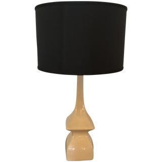 Marked Robert Abbey White Ceramic Table Lamp