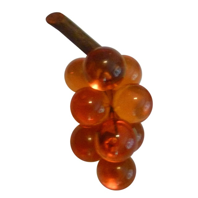 Image of 1970s Vintage Lucite & Driftwood Grapes