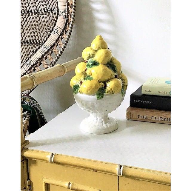 Italian Majolica Lemon Topiary ( 2 Available), Mid-Century - Image 5 of 11