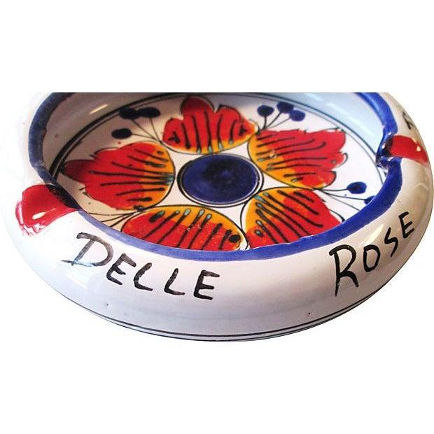 Image of Hand Painted Torinese Italian Ashtray