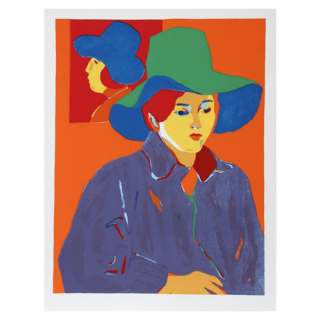 John Grillo, Blue Hat, Serigraph - Image 1 of 1
