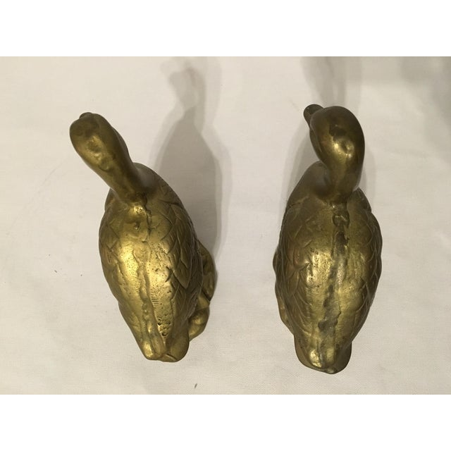 Image of Brass Duck Pair Paperweights - Pair