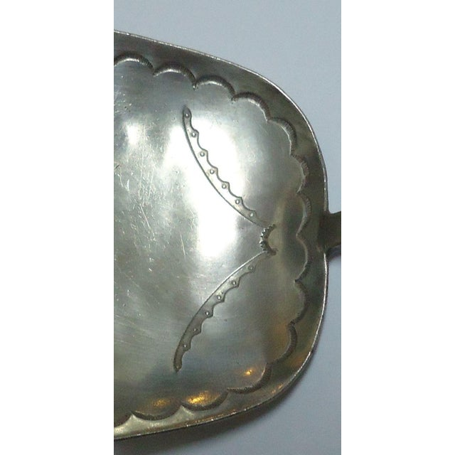 Image of Old Pawn Navajo Stamped Silver Serving Spoon
