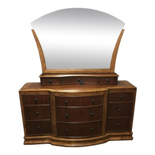 Cherry Primavera Bedroom Dresser with Large Mirror