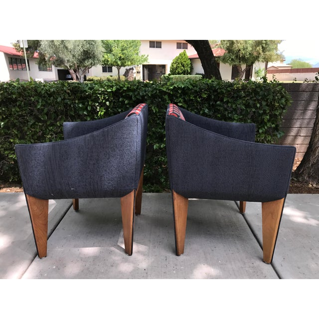Mid-Century Modern Fin Leg Lounge Chairs - A Pair - Image 5 of 11