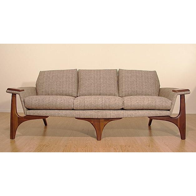1960s Adrian Pearsall Craft Associates Mid-Century Danish Modern Sofa - Image 2 of 9
