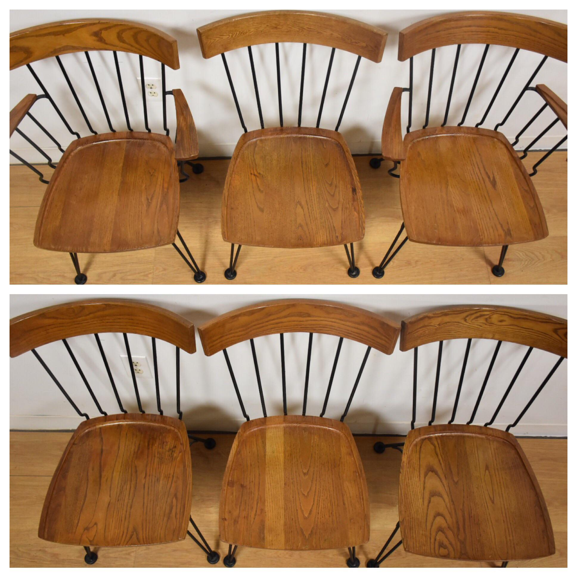 Lyman Woodard Dining Table And Chairs   Set Of 7   Image 4 Of 11