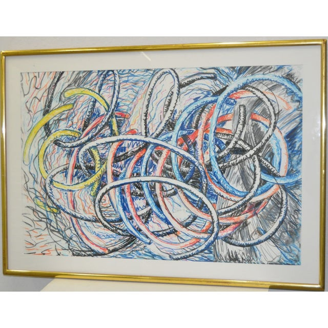 Dennis Croteau Mixed Media Abstract C.1980's - Image 2 of 6