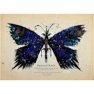 'Blue Butterfly' Polish Exhibition Poster