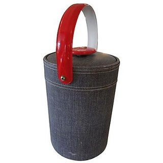 Georges Briard Faux Denim Ice Bucket
