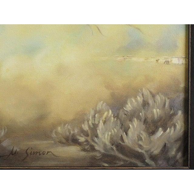 "Ute Simon ""Surprise"" American Bashkir Curly Horse Painting - Image 8 of 9"
