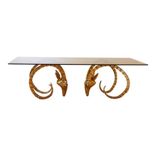 "Brass Ibex Coffee Table ""Ram's Head"""