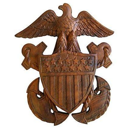 1960s Carved Wooden Patriotic Plaque - Image 1 of 6