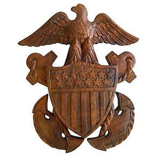 1960s Carved Wooden Patriotic Plaque