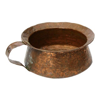 Hammered Copper Pot with Handle