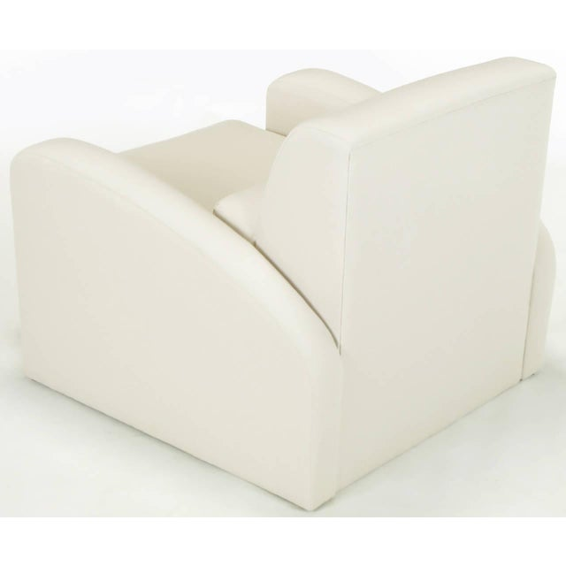 Jay Spectre Steamer Lounge Chair with Ottoman - Image 6 of 6
