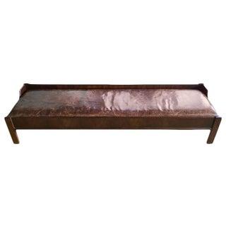 Modern Wooden Leather Brazilian Bench