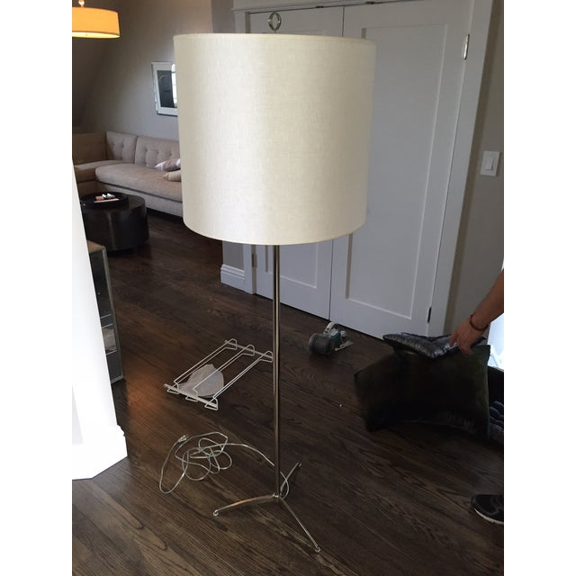 Bob Gold Mitchell Williams Chrome Floor Lamp - Image 2 of 3