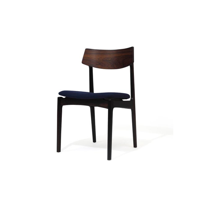 Image of 4 Solid Rosewood Danish Dining Chairs