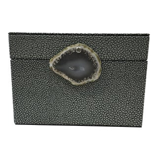 Faux Shagreen Lidded Box