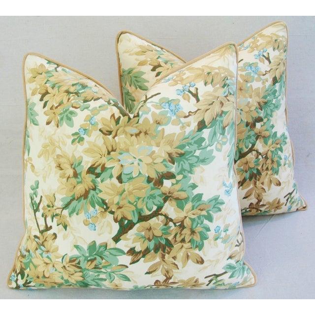 Designer Brunschwig & Fils Foliage Pillows - Pair - Image 2 of 11