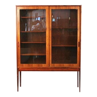 Vintage Danish Rosewood & Glass Cabinet