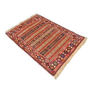 Persian Hand Woven Sumac Rug - 3′6″ × 4′10″