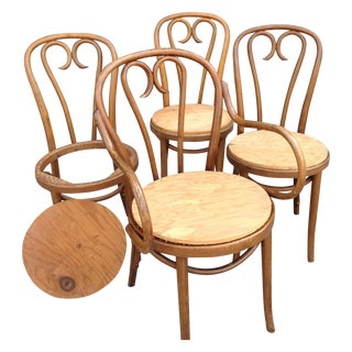 Mid-Century Modern Bentwood Chairs - Set of 4