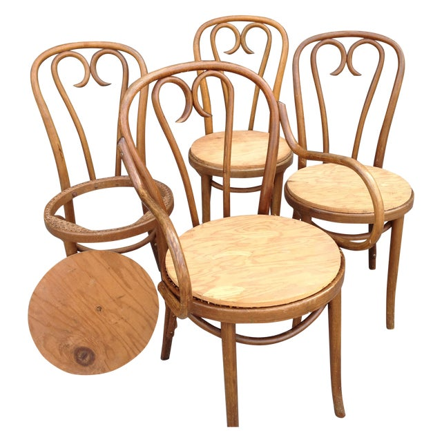 mid century modern bentwood chairs set of 4 chairish
