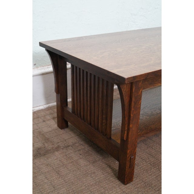 Stickley Solid Oak Mission Style Coffee Table Chairish