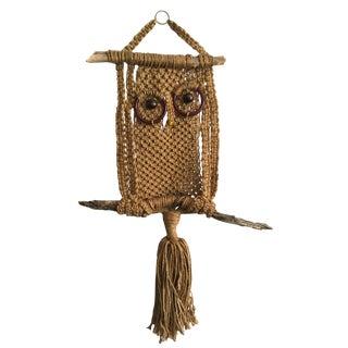 1970's Macramé Owl