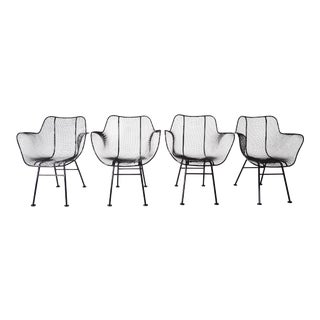 Russell Woodard Outdoor Sculptura Armchairs - set of 4