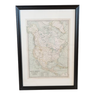 Antique Hand-Colored North American Map