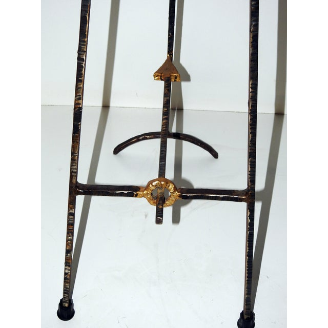 Mid-Century Modern Giacometti Style Bar Stools - A Pair - Image 6 of 8