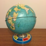 Image of Vintage Ohio Art Tin Lithograph Metal Globe