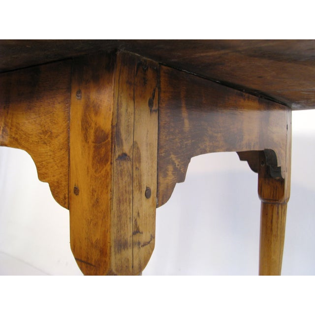 Queen Anne Birds-Eye Maple Oval Tea Table 18th C - Image 7 of 11