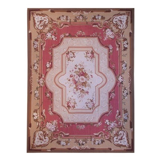 """Pasargad Aubusson Hand Woven Wool Rug - 8' 0"""" x 10' 1"""""""