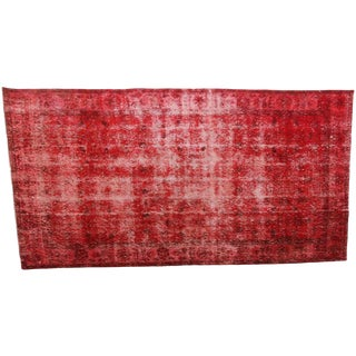 Vintage Turkish Overdyed 'Rioja' Rug - 3′9″ × 6′10″
