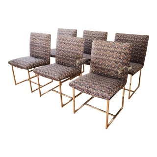 Mid-Century Milo Baughman Style Dining Chairs - Set of 6