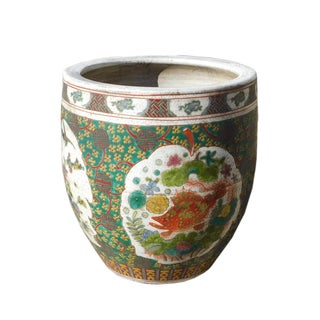 Multi-Color Fish Bird Dragon Porcelain Pot