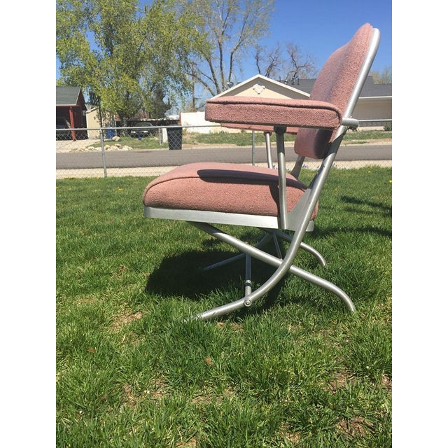 Warren McArthur Pink Upholstered Folding Chair - Image 5 of 8