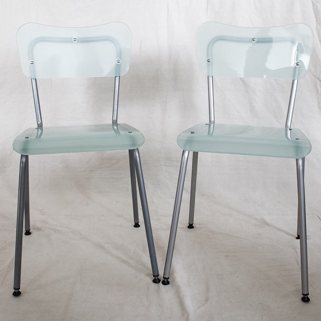 Tim Power for Zeritalia Glass Chip Chairs - A Pair - Image 2 of 10