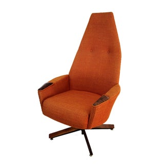 Adrian Pearsall Orange Highback Lounger